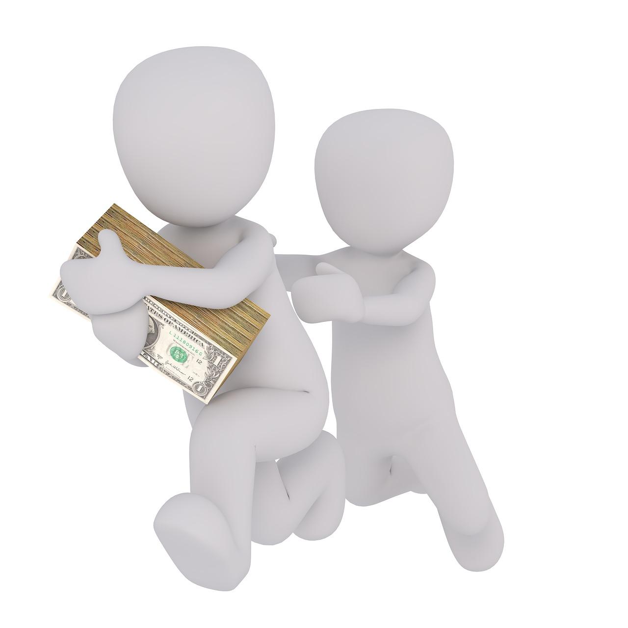 Dinheiro fugindo