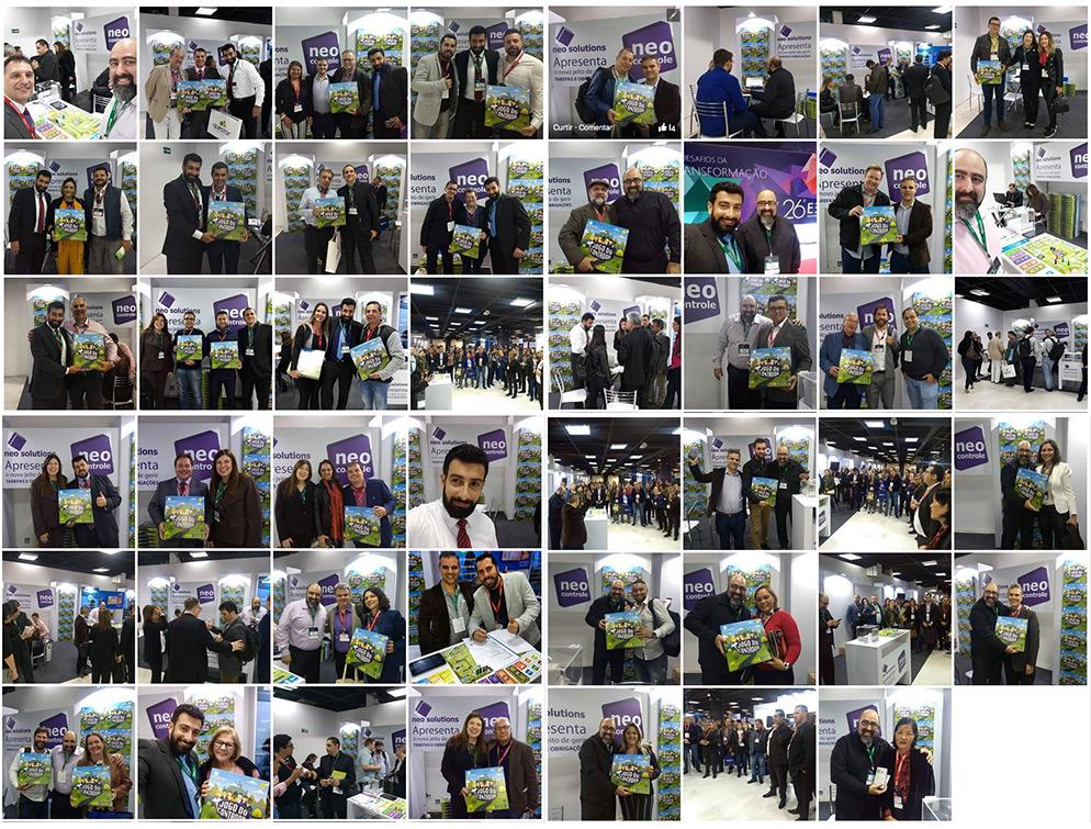 Clientes da Neo Solutions recebendo seu exemplar do Jogo do Contador